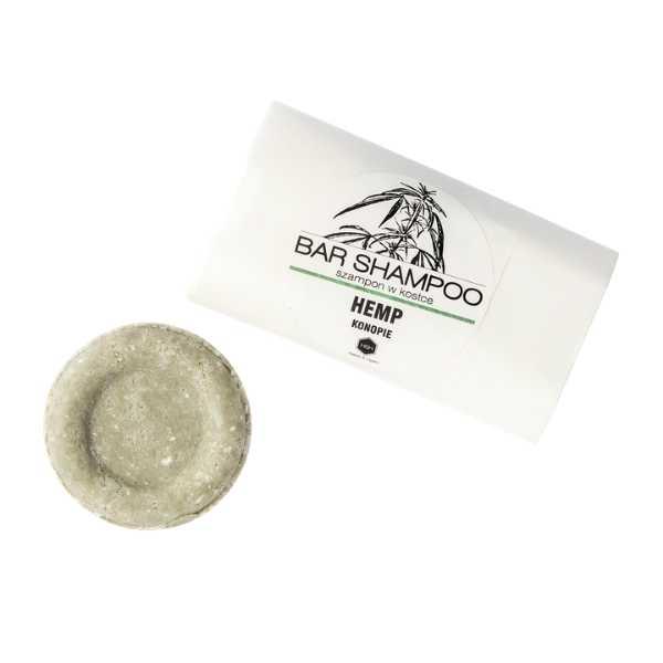 szampon konopny kostka papier