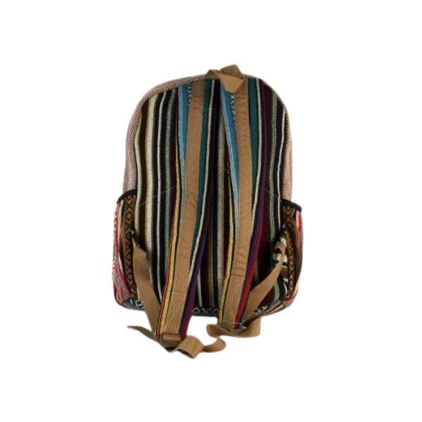 plecak konopny tył