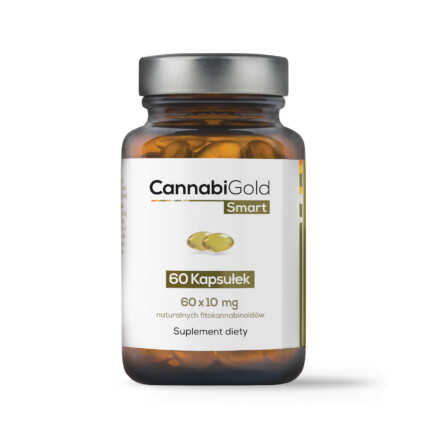 Kapsułki konopne Cannabigold z CBD i innymi fitokannabinoidami występującymi naturalnie z konopiach legalnych Cannabis Sativa L.