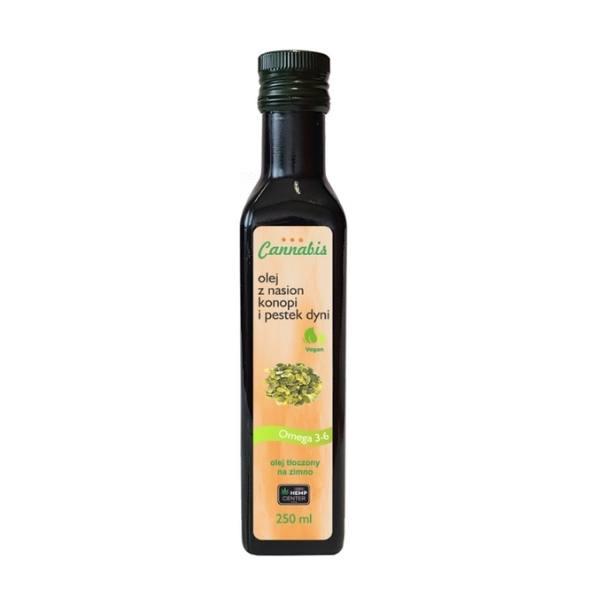 olej z pestek dyni i konopi- smaczny i zdrowy dodatek do sałatek, pieczonych warzyw ii dressingów