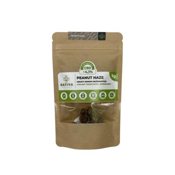 Kwiaty konopi Peanut Haze 4,1% CBD